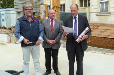 Bauvorhaben: Grundsteinlegung WHS Herrengasse 16