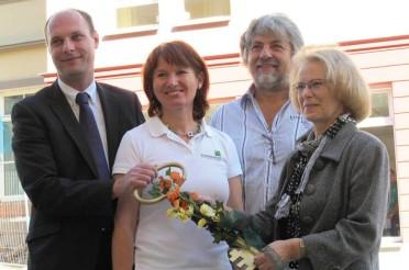 Bauvorhaben: Schlüsselübergabe WHS Markt 15 (altersgerechtes und barrierefreies Wohnen)