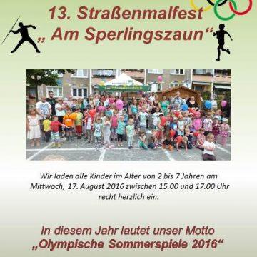 Einladung zum Straßenmalfest